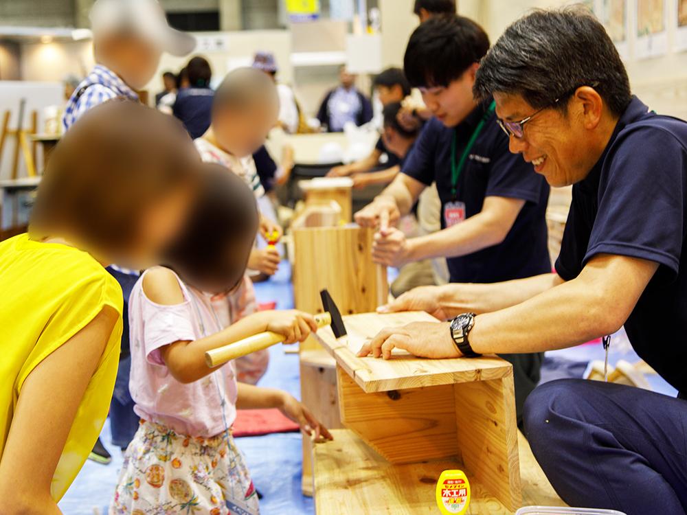 木工教室_住まい夢フェア2019展示相談会